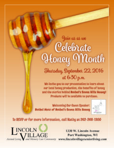 Pt. Wash Honey Month Flier 2