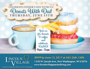 Lincoln Village Donuts with Dad Father's Day Event