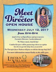 Lincoln Village Meet the Director Open House