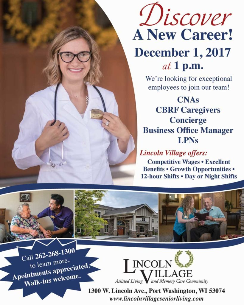 Lincoln Village December 1 Career Discovery Fair