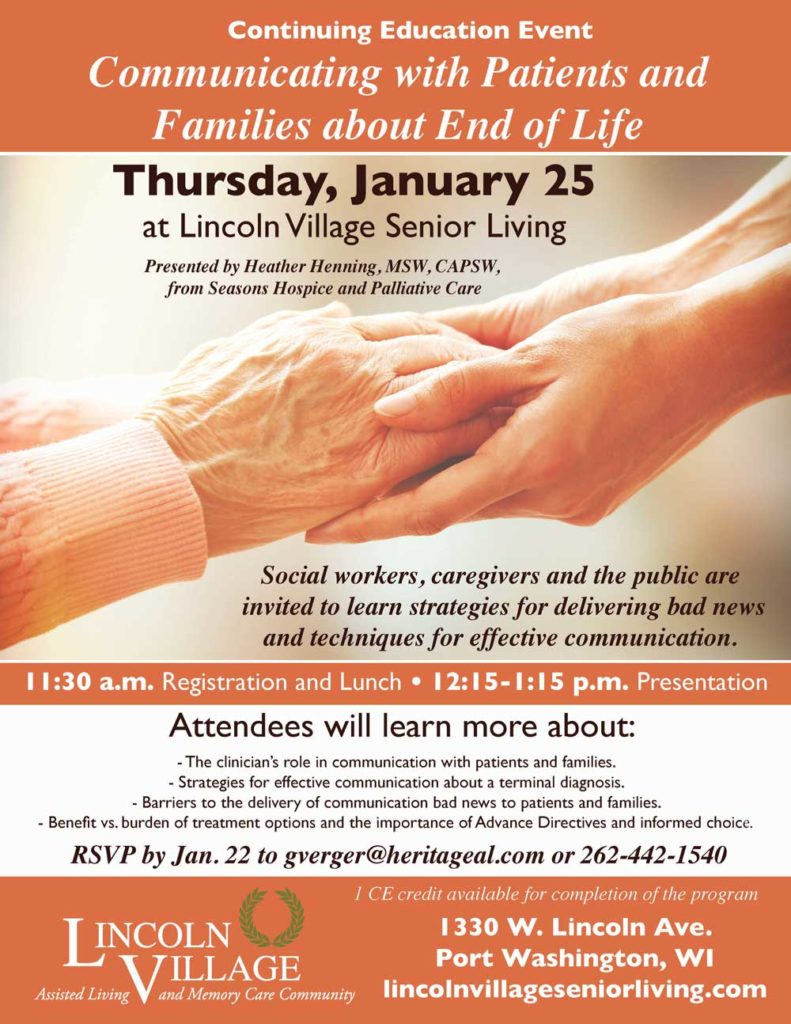Lincoln Village Continuing Education Event