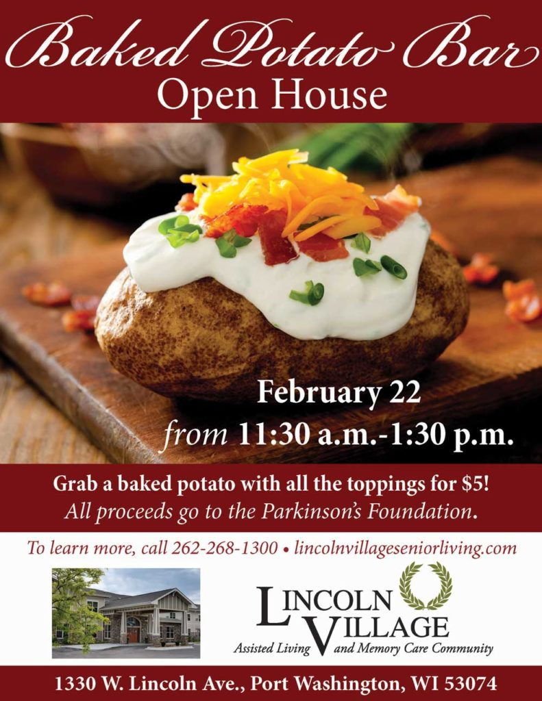 Lincoln Village Senior Living Baked Potato Bar Fundraiser