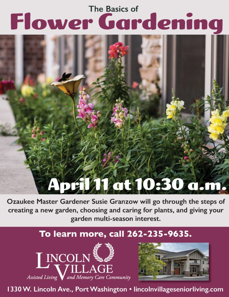 Lincoln Village Senior Living Basics of Flower Gardening