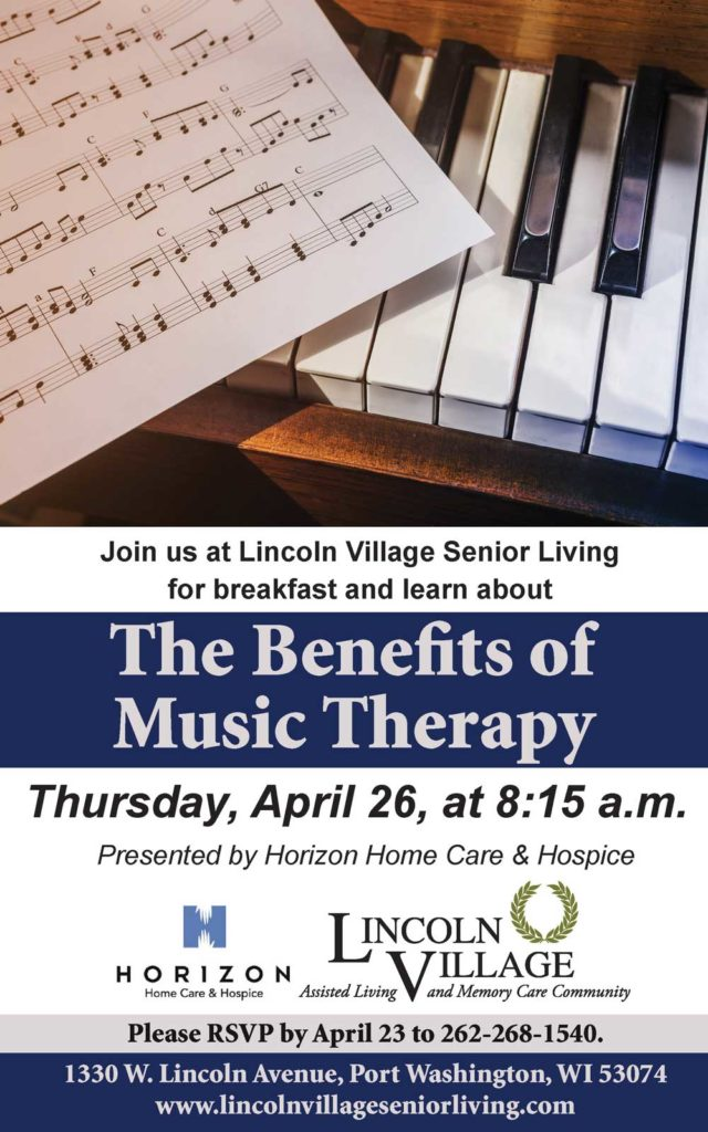 Lincoln Village Senior Living the Benefits of Music Therapy