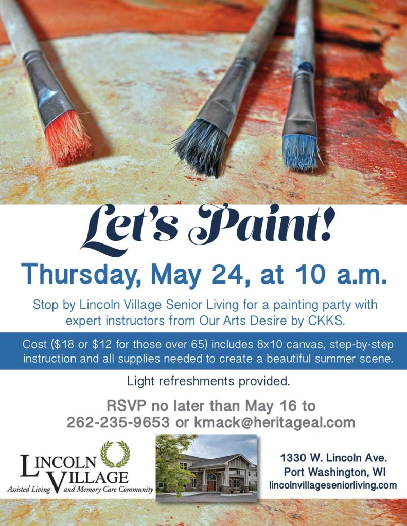 Lincoln Village Senior Living Paint Night