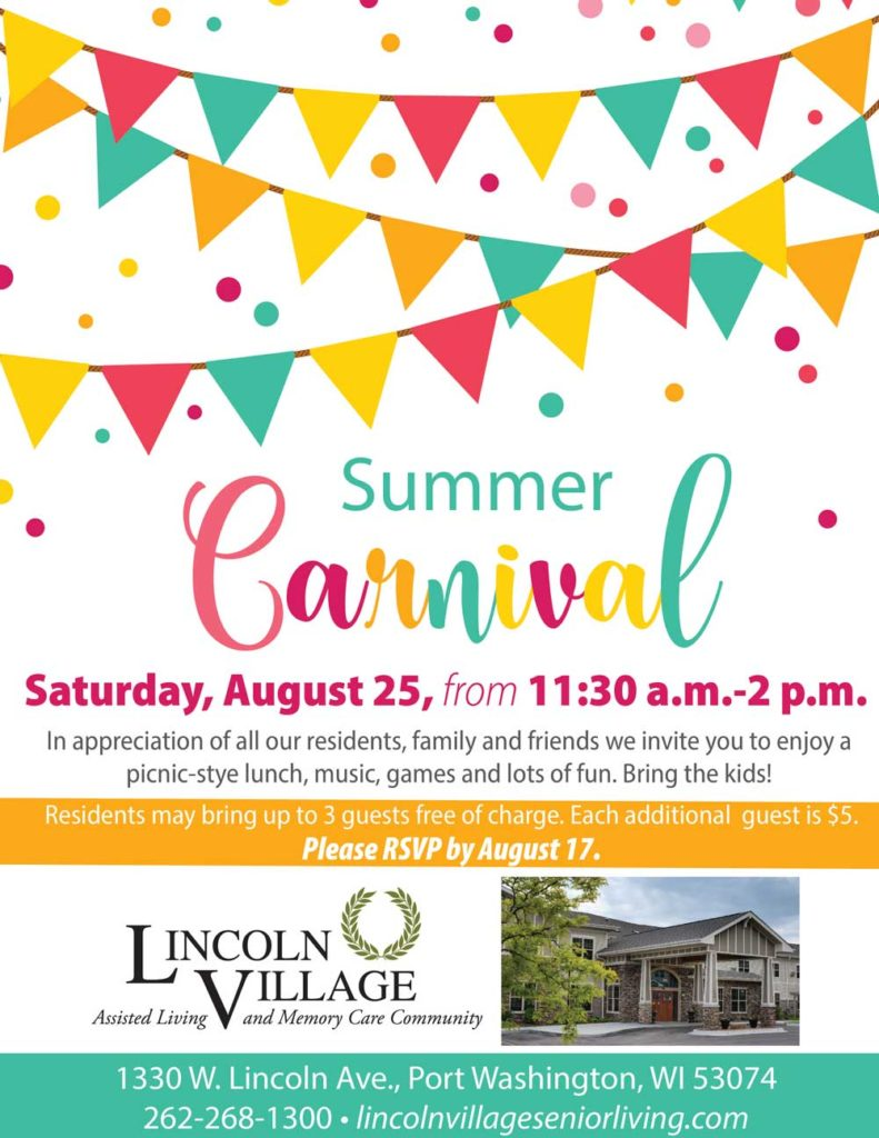 Lincoln Village Senior Living Summer Carnival