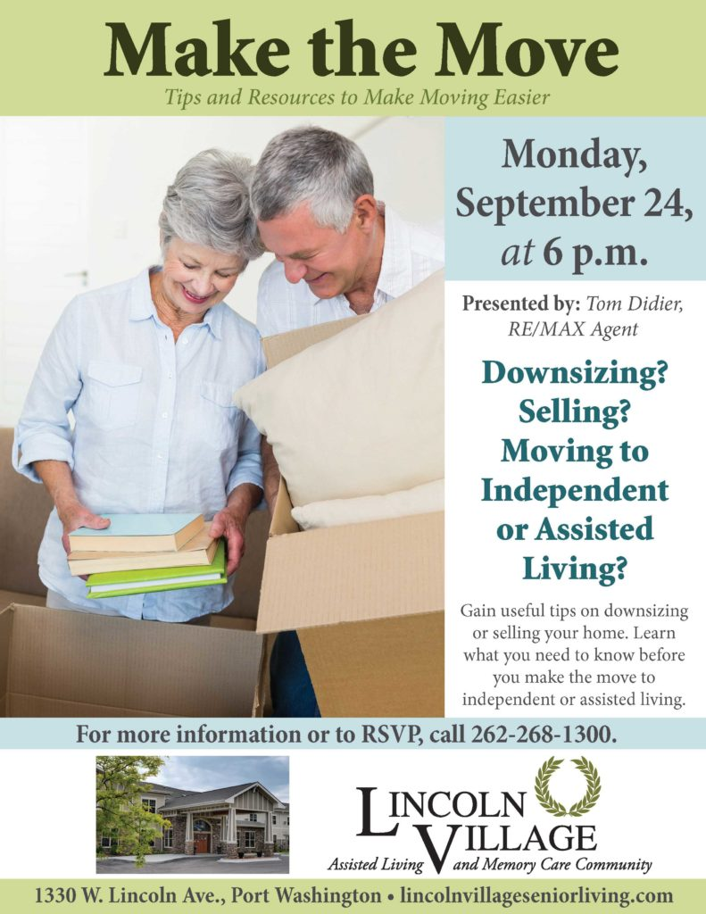 Lincoln Village Senior Living Tips for Moving and Downsizing