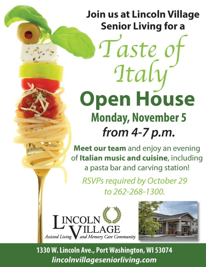 Lincoln Village Senior Living Taste Of Italy Open House