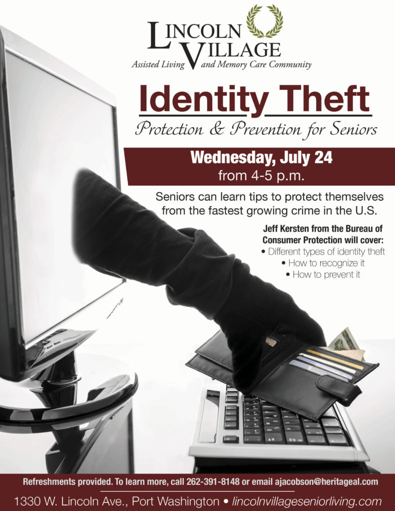 Lincoln Village Senior Living Identity Theft Tips for Seniors