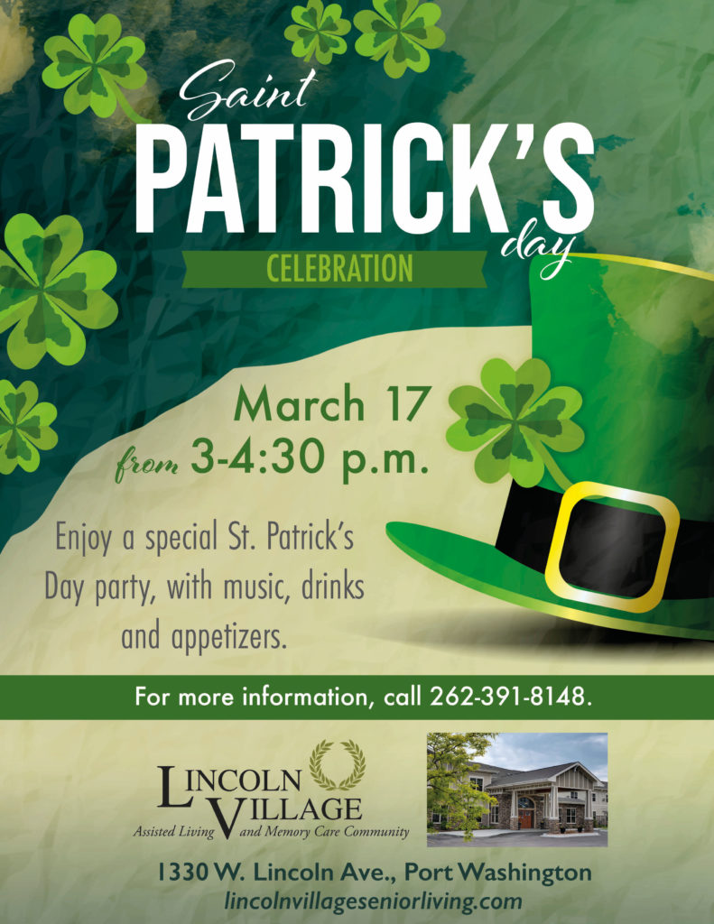 Lincoln Village Senior Living St. Patrick's Day Celebration Open House